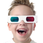 Kid with 3D glasses